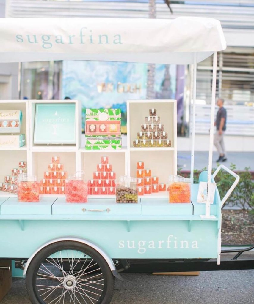 Sugarfina vending bike