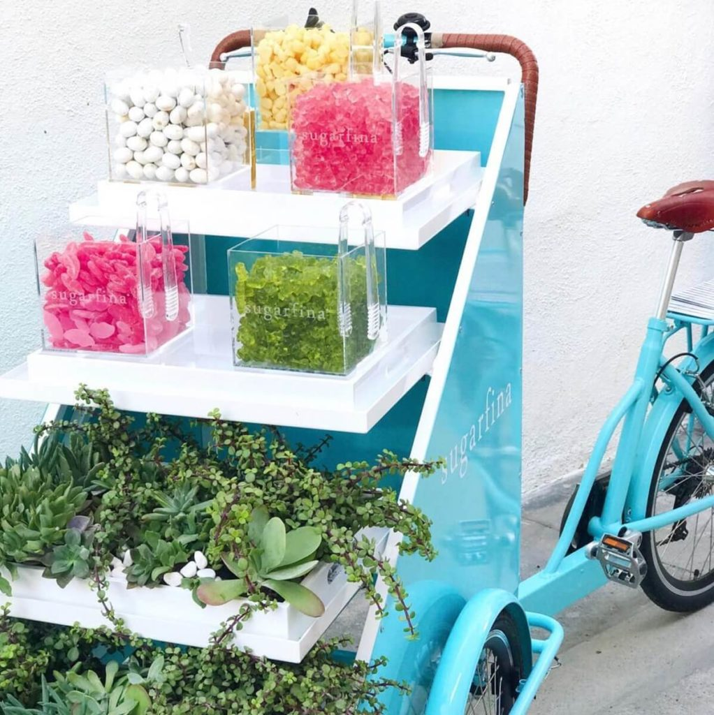 Sugarfina mobile vending bike