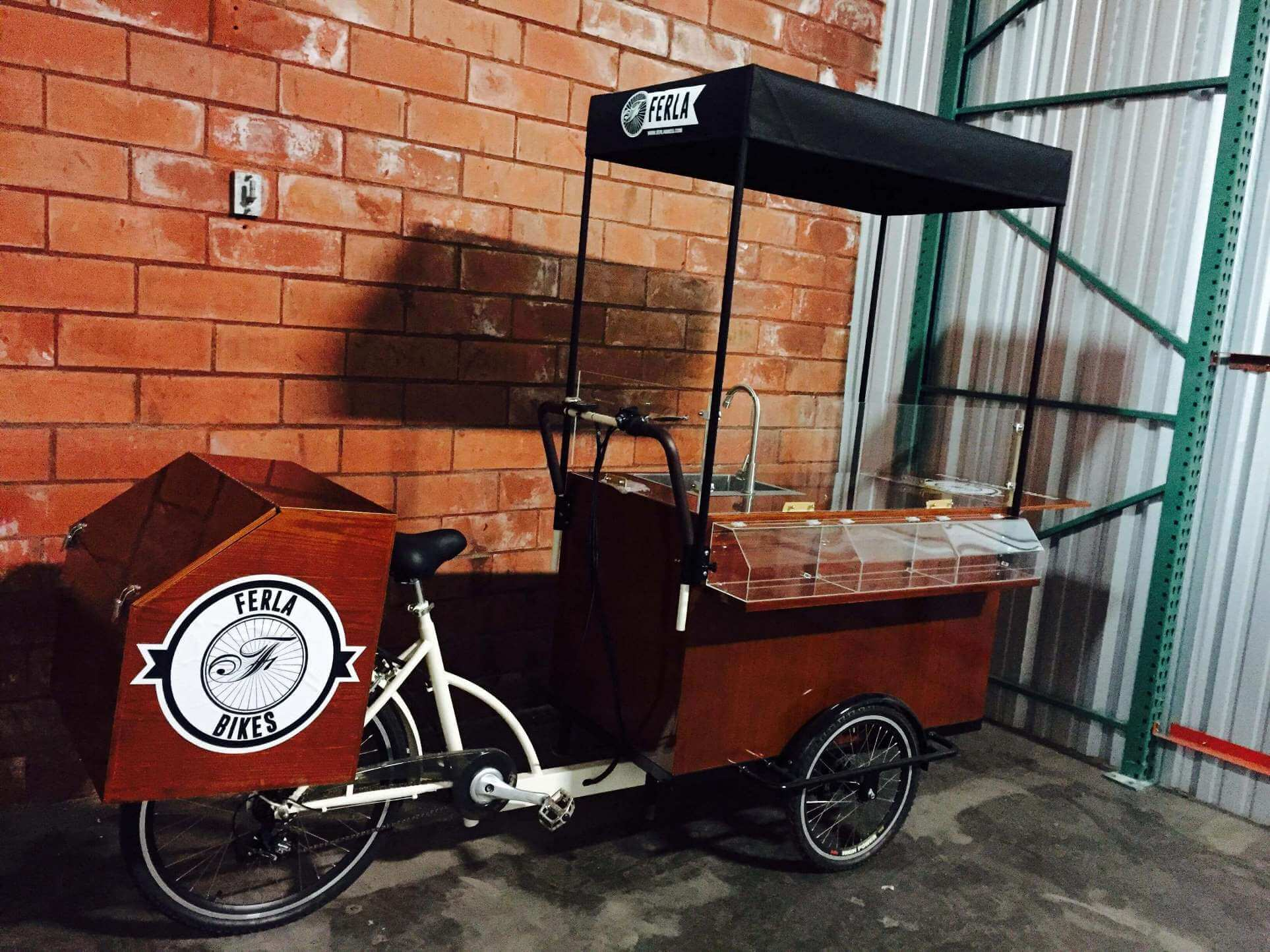 Ferla Bikes Coffee carts that change the reality of mobile coffee bike business. Completely customized tricycles for sale.