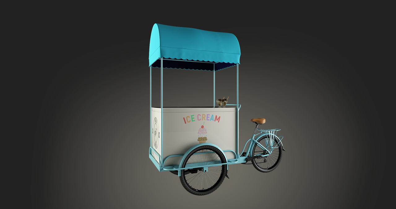THE MOST STAND OUT ICE-CREAM BIKE IN THE WORLD